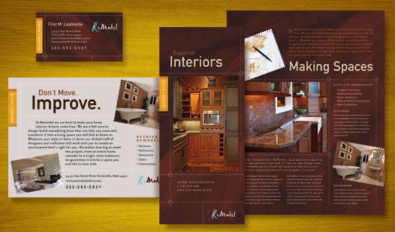Home Remodeling Brochure, Flyer & Ads, Datasheet, and Stationery Designs