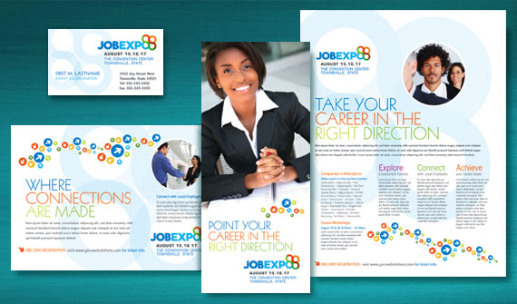 make the most of your marketing with graphic designs for a job expo  u0026 career fair that work for