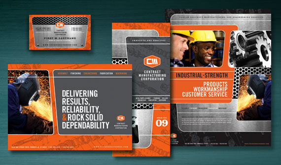Manufacturing Engineering Brochure, Stationery, Flyer & Ads, Datasheet, and Tri Fold Brochure Designs