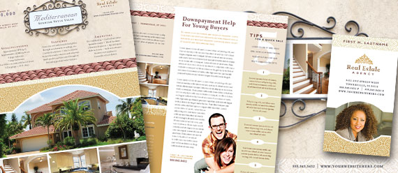 Luxury Real Estate Newsletters, Postcards, Flyers and Stationery Designs