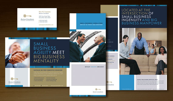 Grow your small business consulting service with brochures for Graphic design consultant