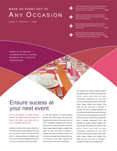 Event Planning Newsletter Design