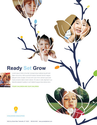 Childhood Education Flyer Design