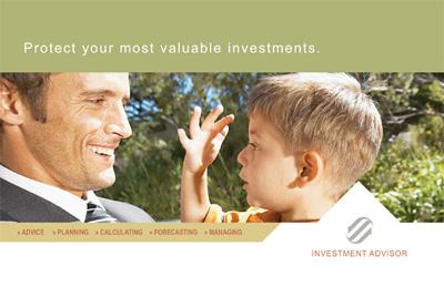 Investment Advisor Postcard Design