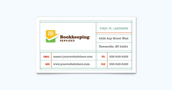 Accountant Business Card Design Idea