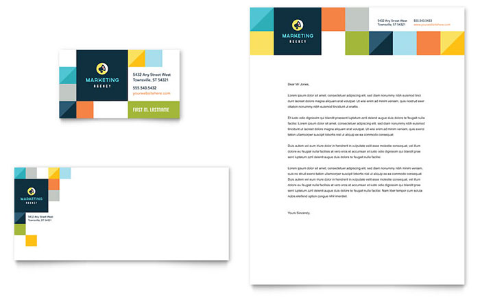 Advertising Company - Letterhead and Business Card Design Example