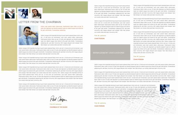 Annual Report Redesign - Pages 6 & 3