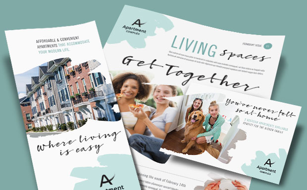 Apartment Marketing - Brochures, Flyers, Newsletters & Postcards