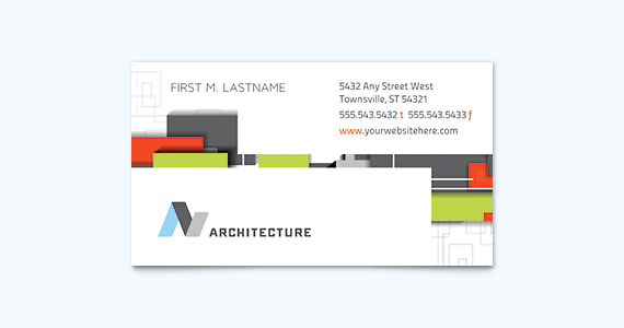 Architect Business Card Template Design