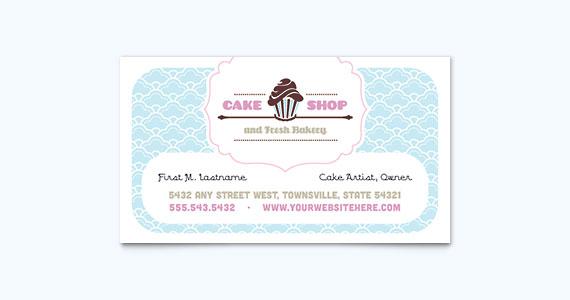 Bake Shop Business Card Design Idea