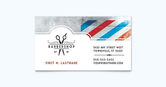 Barber Shop Business Card Design Idea
