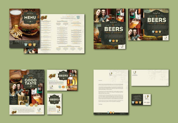 Brand Identity Design Example - Restaurant
