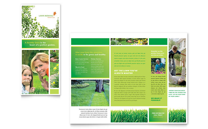 lawn care brochure design - Brochure Design Ideas