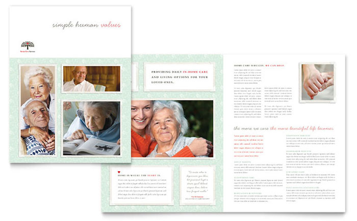 Senior Care Brochure Design Idea - Brochure Cover