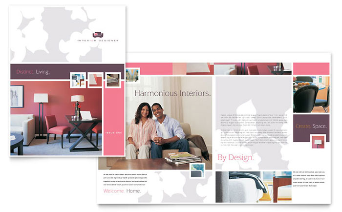 Interior Design Brochure Design Idea - Brochure Cover