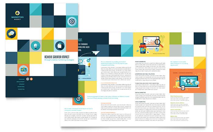 Advertising Company Brochure Design Idea - Brochure Cover