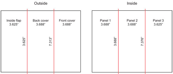 tri fold brochure measurements