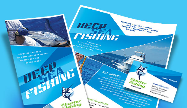 Fishing Charters Graphic Design Ideas Inspiration