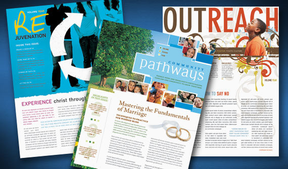 Religious Newsletter and Church Bulletin Template Designs