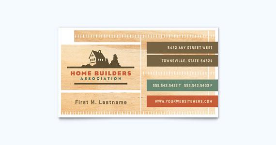 Construction Business Card Design Idea