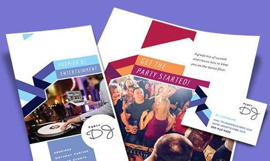 DJ Brochures, Flyers, Posters - Disc Jockey Business Marketing Materials
