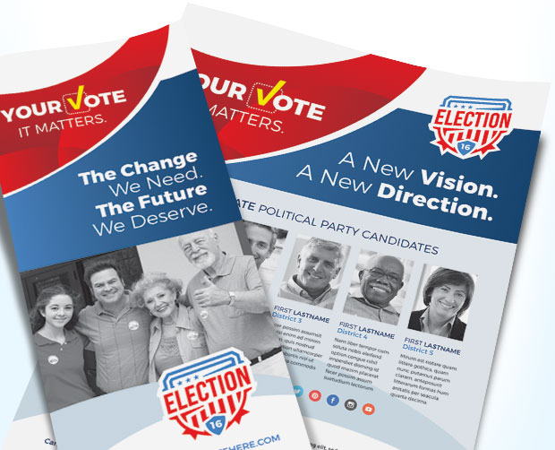 Election Poster & Flyer Designs For Winning Political Campaigns