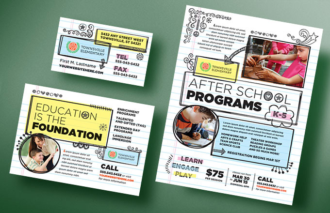 Elementary School Newsletter Flyer Design Ideas