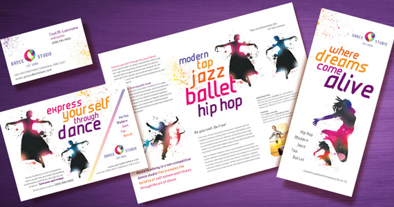 Dance Studio Brochures, Flyers, Postcards