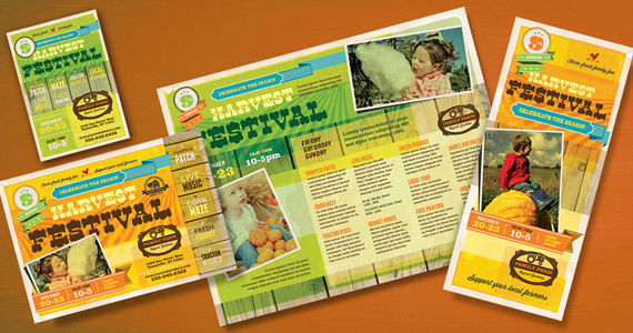 Business Marketing Templates – Farm Harvest Festival