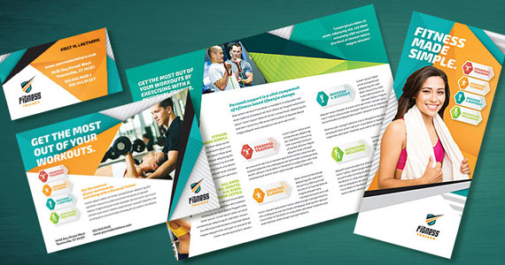 Gym Brochure Templates Gym Brochure Template Gym Brochures Psd Eps