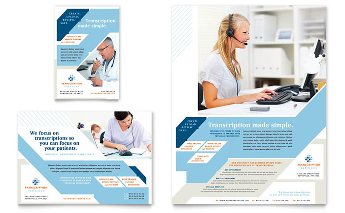 1/2-page and 1/4-page Flyer Template