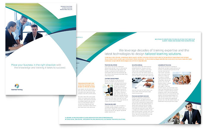 InDesign Template - Business Training Brochure Idea