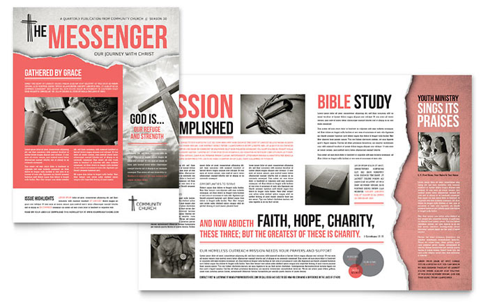 Church Newsletter - InDesign Template Example