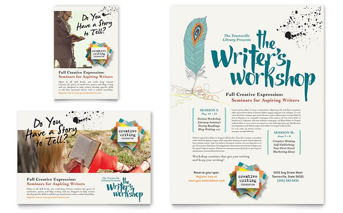 InDesign Template - Creative Workshop Flyer Example