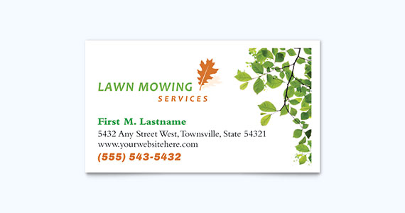 25 graphic design examples of business cards stocklayouts blog landscaping business card design idea colourmoves