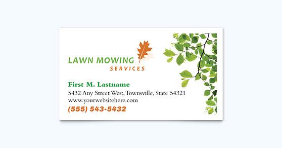 Landscaping Business Card Design Idea