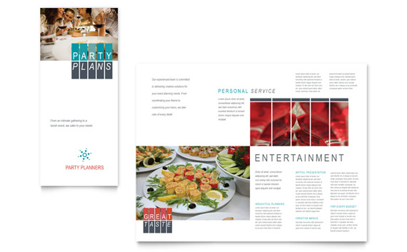 Party Planners Tri Fold Brochure Design