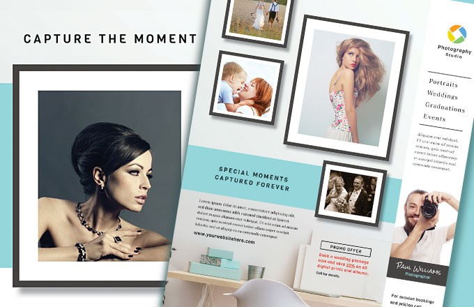 Photographer Marketing Templates - Graphic Design Examples