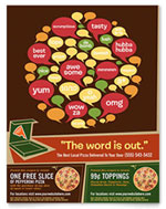 Pizza Parlor Flyer & Coupon Design