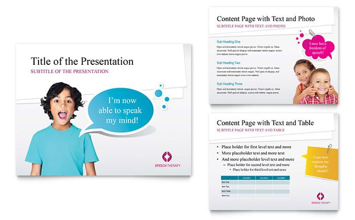 PowerPoint Business Presentation - Communication and Education