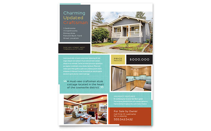Real Estate Flyer Sample #6   Craftsman Home