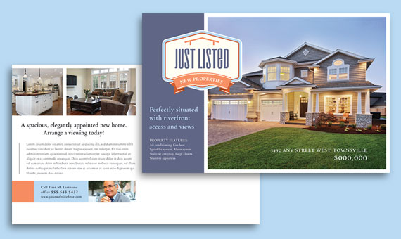 Real Estate Marketing Postcards - Sample Templates
