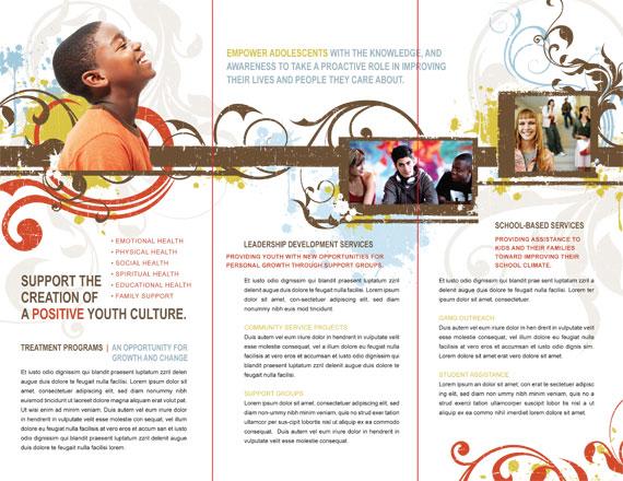Tri-Fold Brochure Template Inside Spread Fold Lines