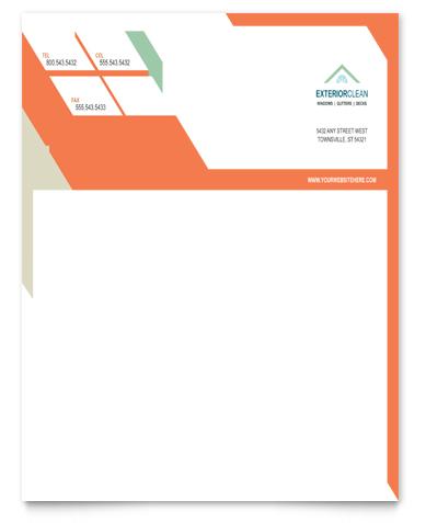 Window Cleaning & Pressure Washing Letterhead Design