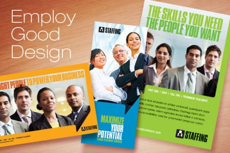 staffing agency flyer   Heart impulsar co dtg magazine presents employment and staffing design templates