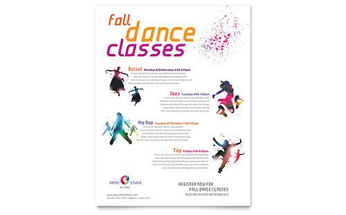 Dance Studio Flyer Amp Ad Template Design