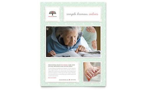 Senior Care Services Business Card Amp Letterhead Template