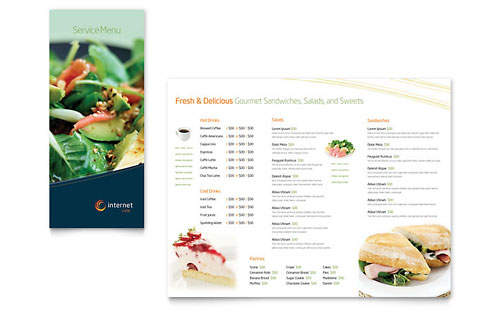 Free Sample Restaurant Menu Design