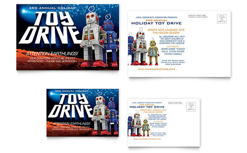 Holiday Toy Drive Fundraiser Flyer Amp Ad Template Design