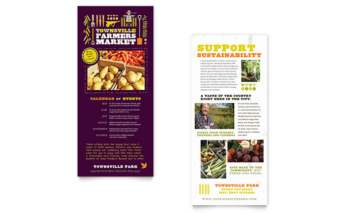 Farmers Market Rack Card Design